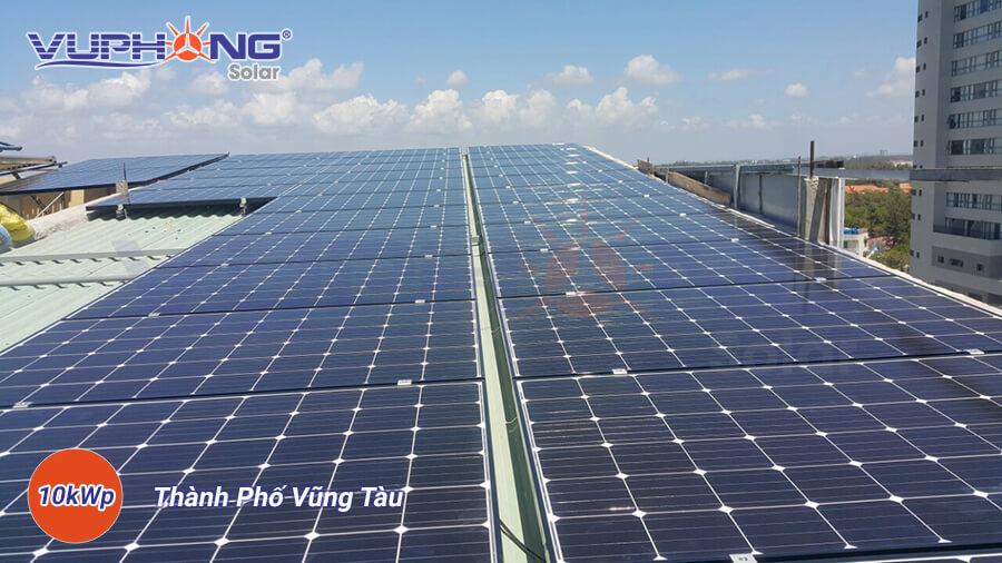 Một trong những dự án điện mặt trời lắp mái được thi công bởi Vũ Phong Solar tại Miền Nam