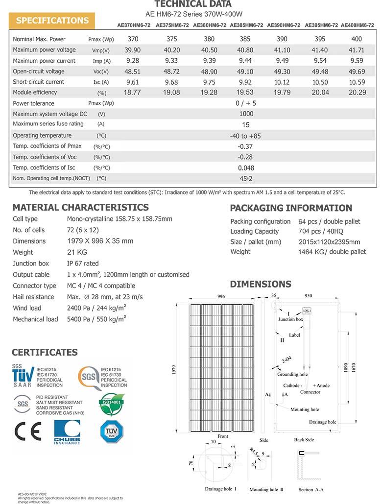 AE-HM6-72-Series-370W-400W